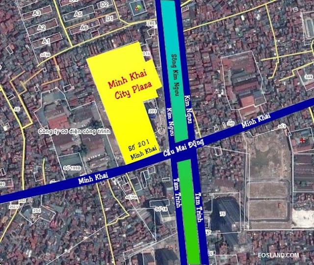 Vị trí chung cư Minh Khai City Plaza 201 Minh Khai