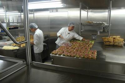 Cozinha do MSC Preziosa