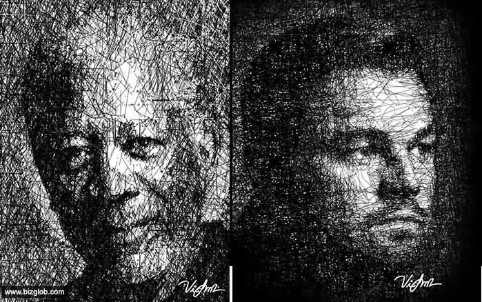 Scribble Art Portraits