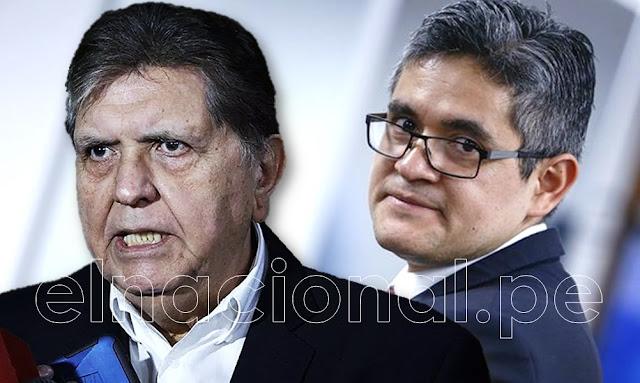Alan García denuncia a José Domingo Pérez