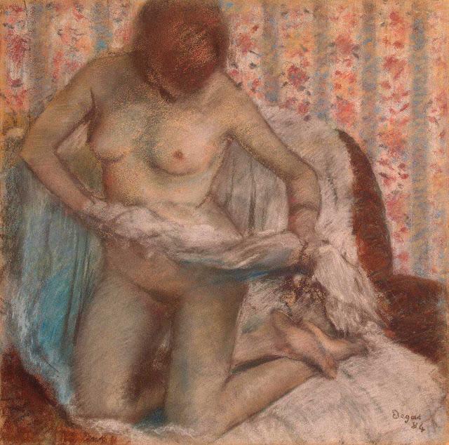 Эдгар Дега - Женщина за туалетом (1895)