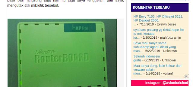 widget komentar terbaru blogger