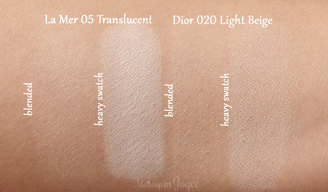 Dior Diorskin Nude Air Healthy Glow Invisible Loose Powder 020 Light Beige Swatches