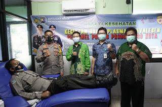 Anggota Polresta Probolinggo Lakukan Donor Plasma Konvalense