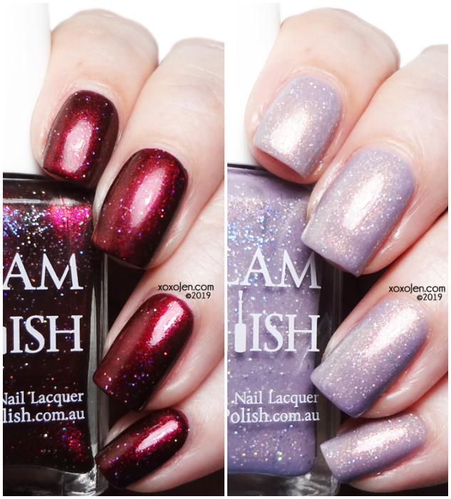 xoxoJen's swatch of Glam Polish Buffy & Angel LE duo