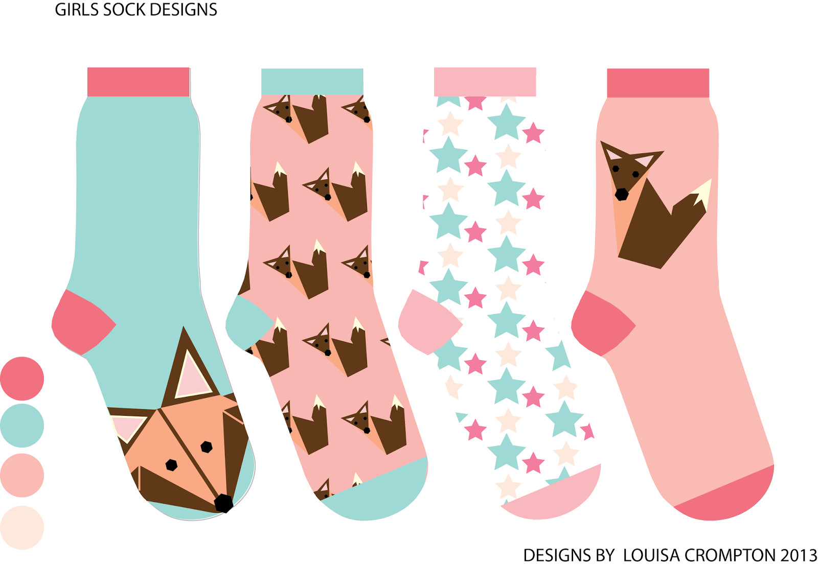 Sock Design Template  vector royalty free  sock template