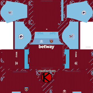 West Ham United 2019/2020 Kit - Dream League Soccer Kits