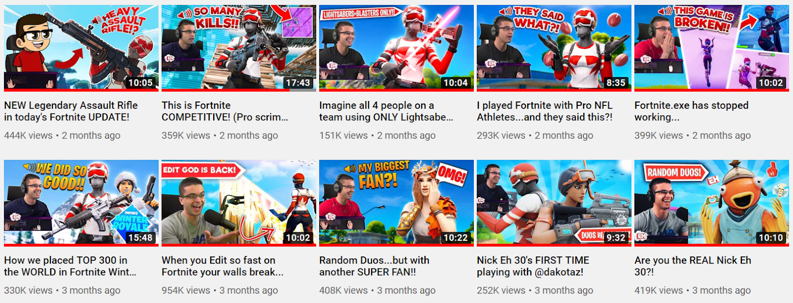 Nick Eh 30 Youtube Videos