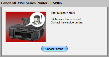 Canon MG7150 Error 5B00