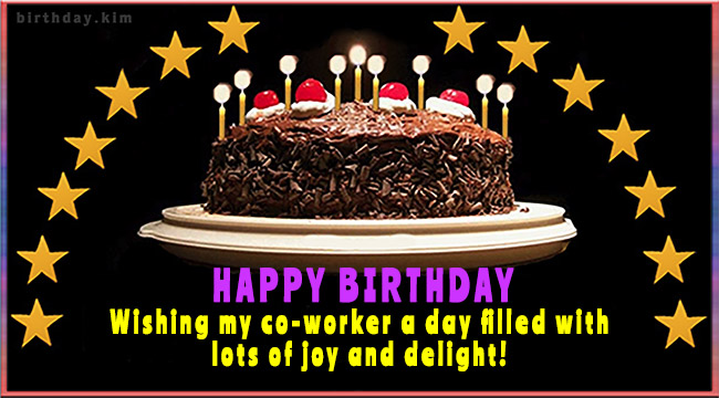 HAPPY BIRTHDAY - Wishing my co-worker