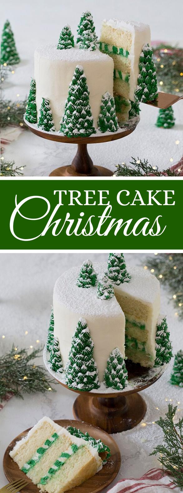 Christmas Tree Cake #desserts #partycake
