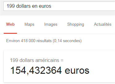 Convertir Dollar Euro