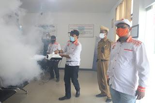 Fogging Fasilitas Umum dan Rumah Warga di Kadungora, Karnoto: 'Semoga Efektif Memutus  Penularan Covid-19'