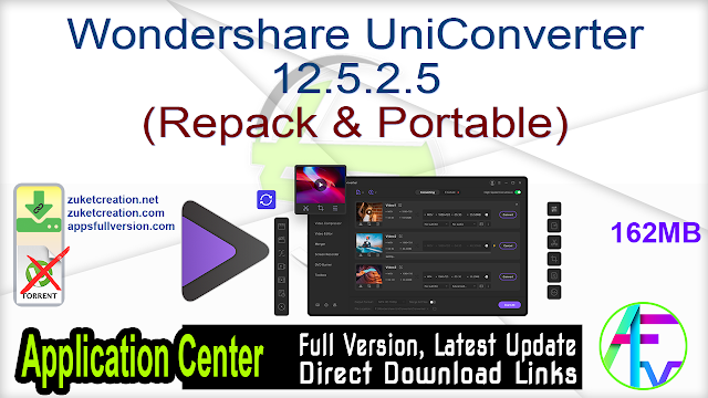 Wondershare UniConverter 12.5.2.5 (Repack & Portable)