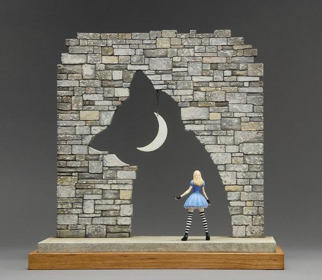 Green Pear Diaries, arte, escultura, John Morris, Alice in Wonderland, Alicia en el país de las maravillas