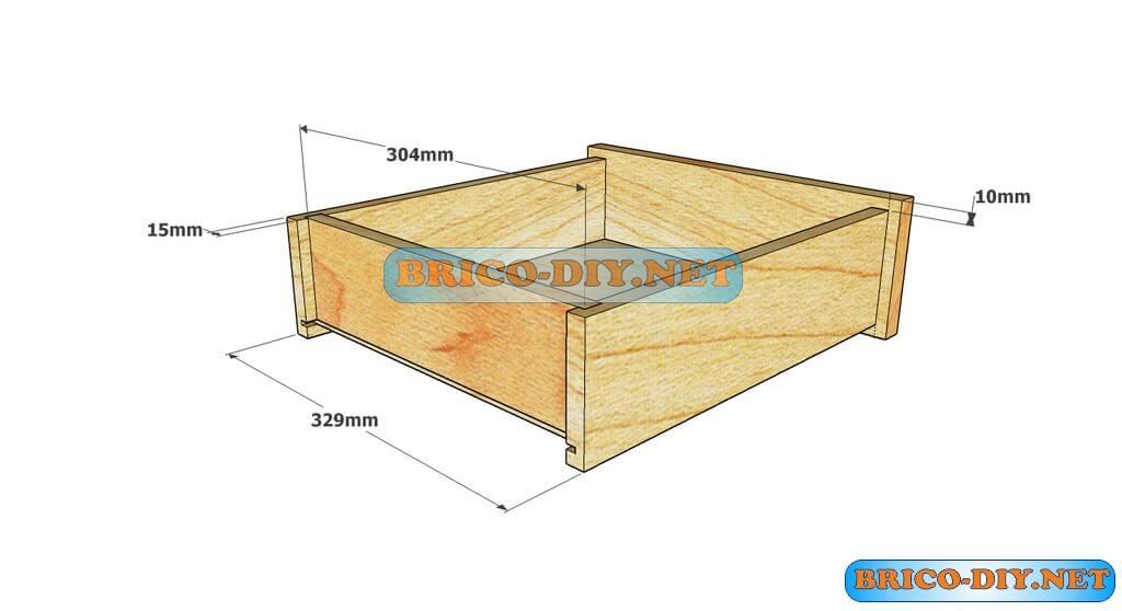 Plano como hacer Mesa de centro madera   Web del Bricolaje Diseño Diy