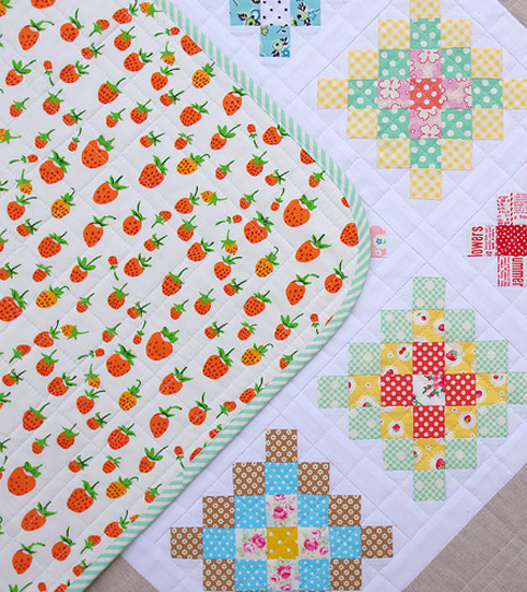 Briar Rose by Heather Ross - Strawberries - Quilt back fabric