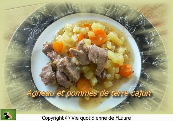 Vie quotidienne de FLaure: Agneau et pommes de terre cajun