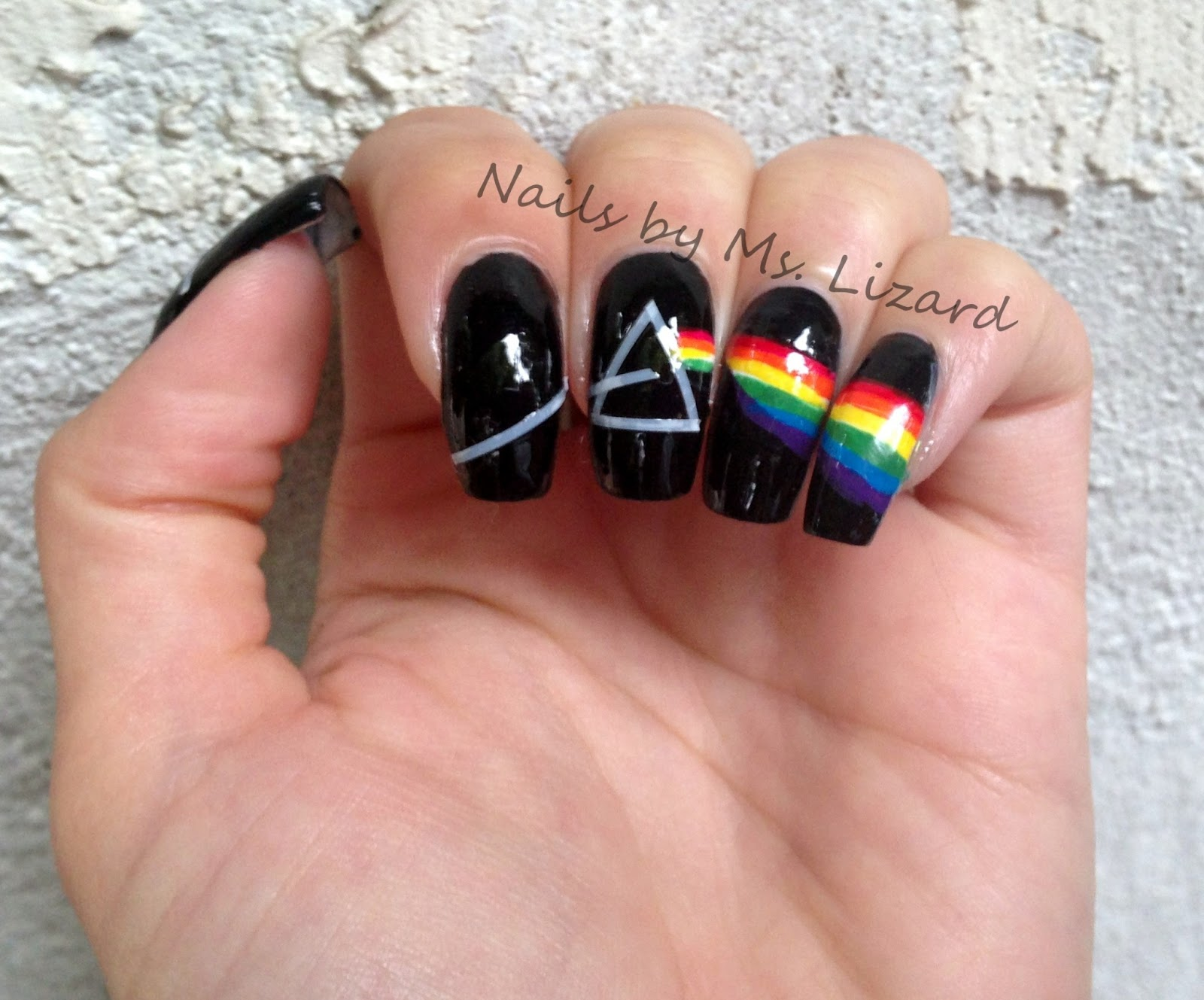 Nails by Ms. Lizard: The Darkside of the Moon