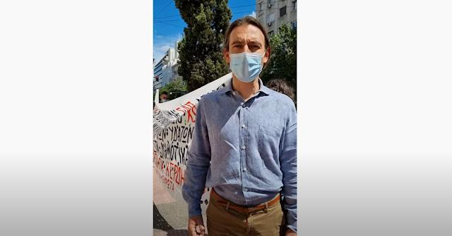 Κρίτων Αρσένης: Στοπ στο έγκλημα στον Ευρώτα - Διαμαρτυρία έξω από το ΣτΕ για το ΣΔΙΤ Πελοποννήσου (βίντεο)