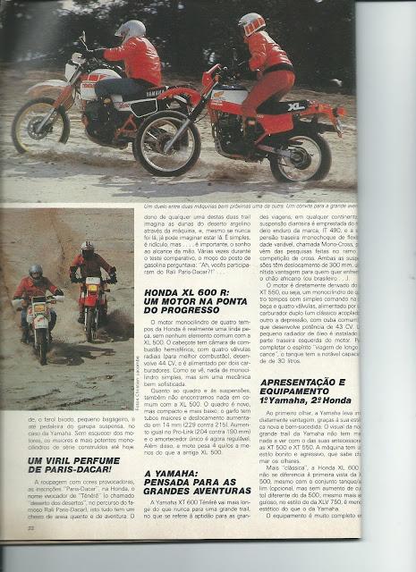 MS05 - Yamaha XT600 x Honda XL600 - O DUELO