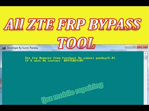 ZTE FRP Bypass Tool Pro Version 2019 100%Tested!