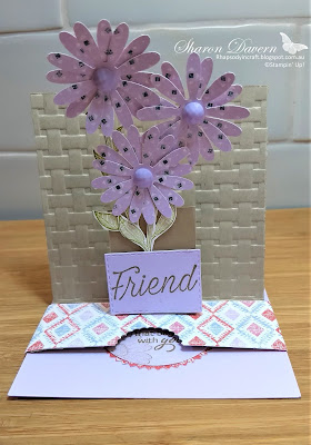 Purple posy, Daisy Lane, Floral Esssence, slider pop up card, In Color, colour creations, rhapsodyincraft, art with heart