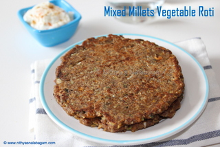 Mixed Millets Vegetable Roti
