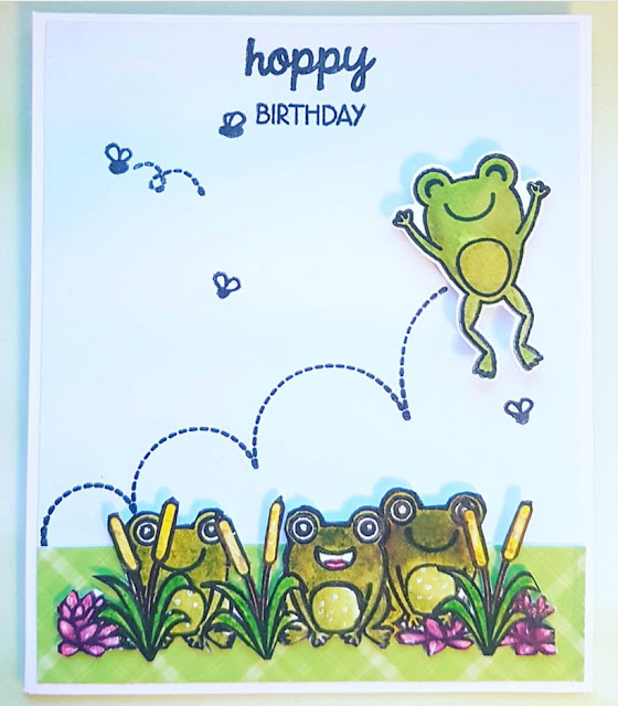 Sunny Studio Stamps: Froggy Friends Customer Card by Stephi