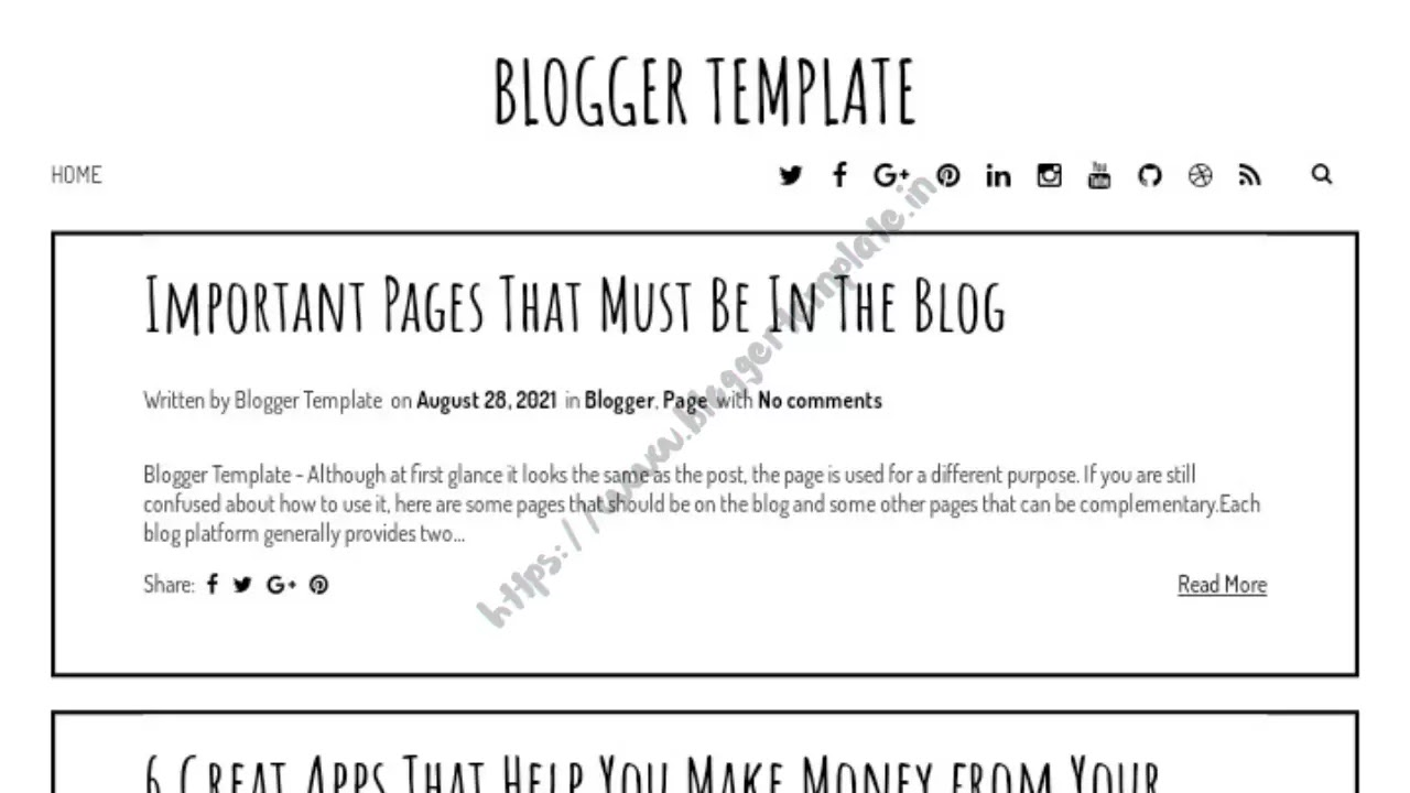 Check your blog again, and the template has changed. The appearance of your blog will be a new look with an interesting feel to your liking.