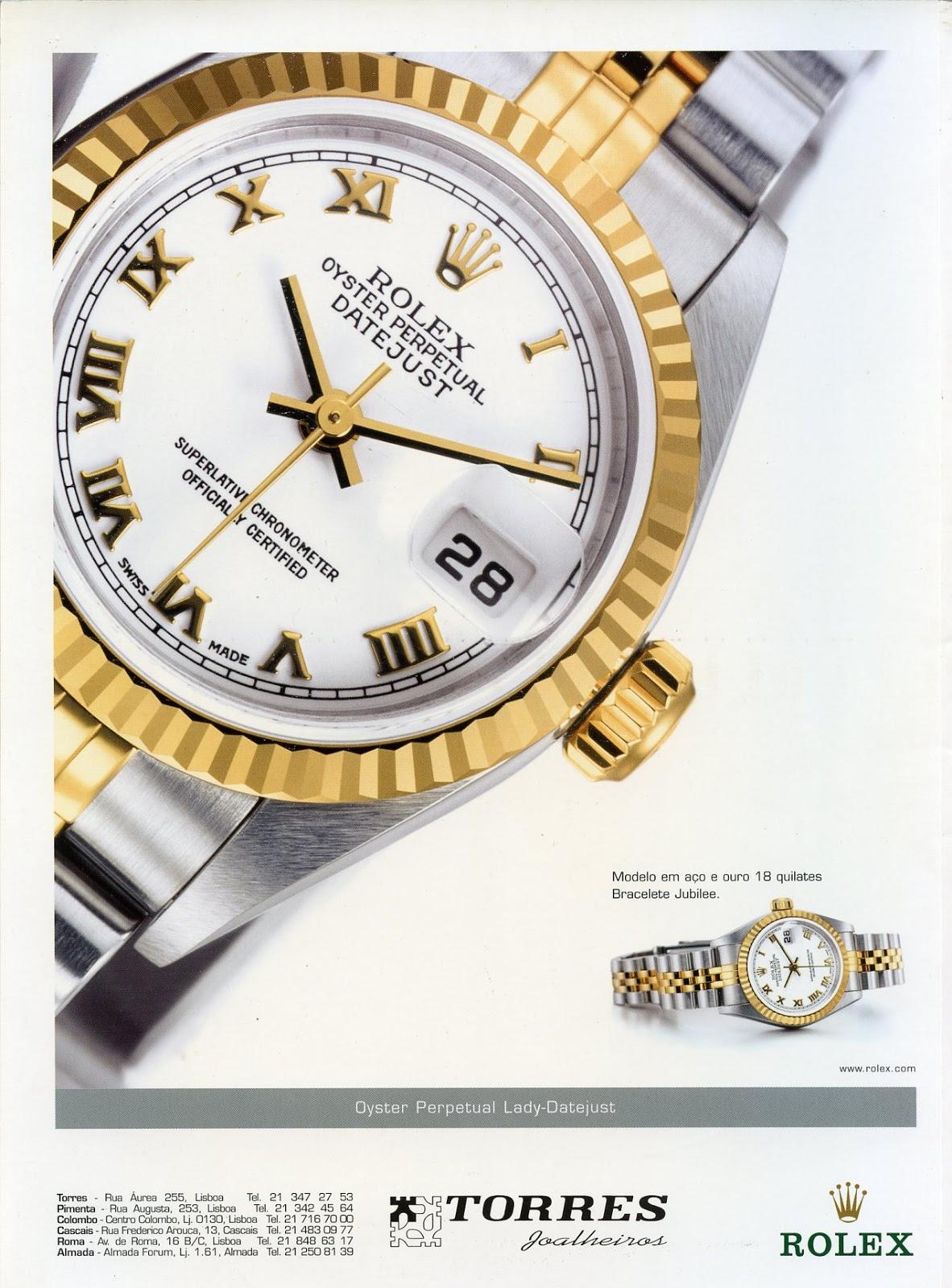 b782933e75a Relógios Rolex   Torres Joalheiros. (arquivo Fernando Correia de Oliveira)