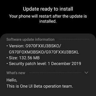 Update Install Android 10