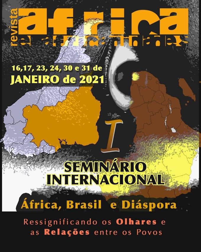 """I Seminário Internacional """"África, Brasil e Diáspora: ressignificando os olhares e as relações entre os povos"""" ocorrerá em janeiro"""