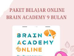 Paket Belajar Online Brain Academy 9 Bulan