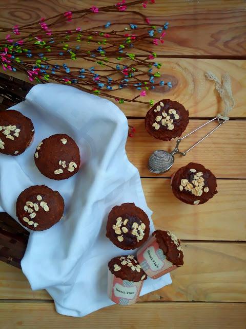 Muffins de zanahoria y plátano con semillas de lino. Desayuno, merienda, postre, saludable, realfood, healthy, carrot, banana, linaza Cuca