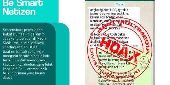 Bocor Ke Publik, Polisi Sebut Chat Tito dengan Kombes Yuwono Hoax, Netizen: Chat Habib Rizieq-Firza Hoax Juga Dong?