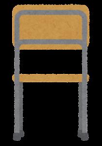 木の椅子のイラスト(後)