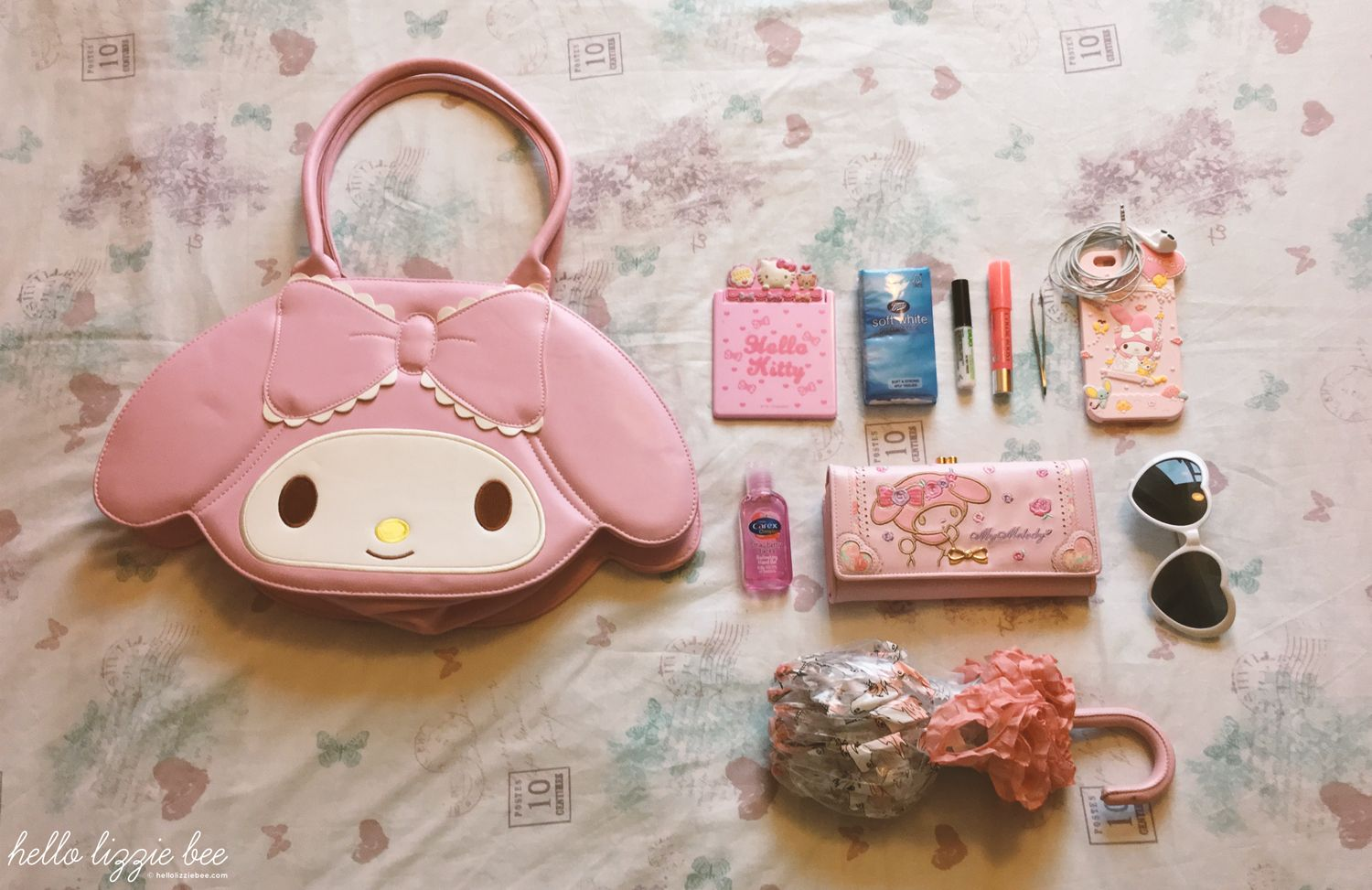 kawaii bag contents