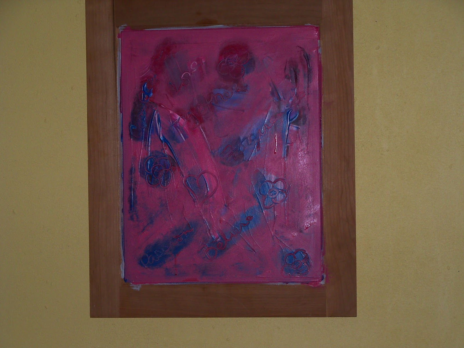 JustATish Designs: Layers of an Acrylic Painting