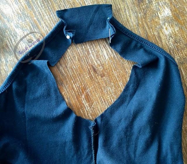 Za krótka sukienka przedłużanie w ramionach DIY - Adzik tworzy