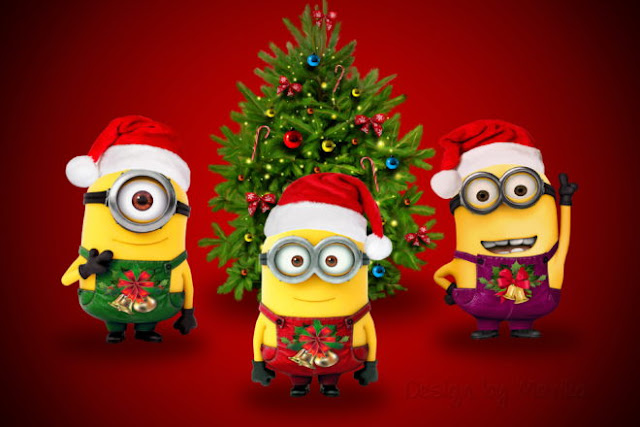 Cute minions merry Christmas Hd Images