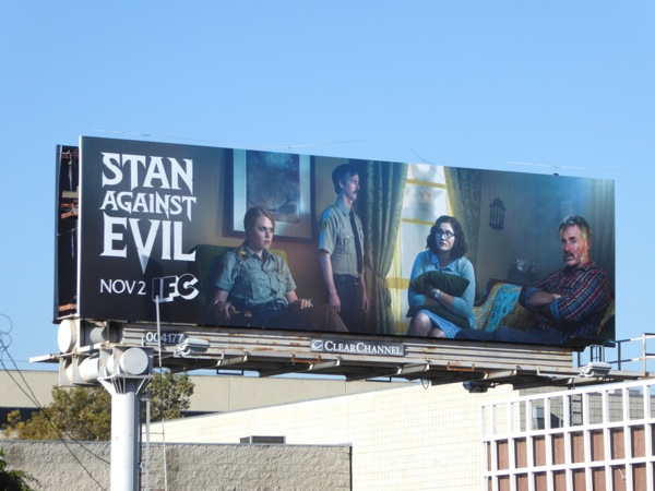 Stan Against Evil series premiere billboard