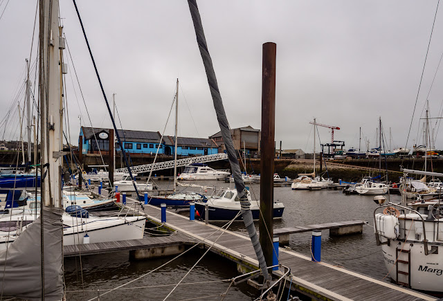 Photo of a grey start to the day today (Friday) at Maryport Marina