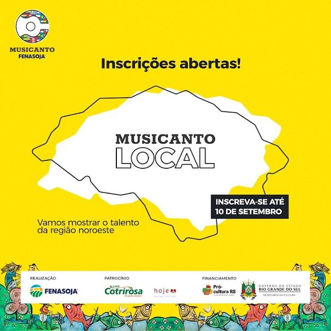 Estão abertas as inscrições para o Musicanto Local que acontecerá em outubro