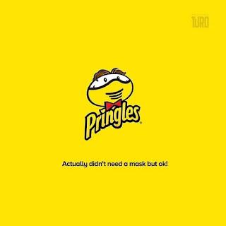 لوجو Pringles في زمن الكورونا