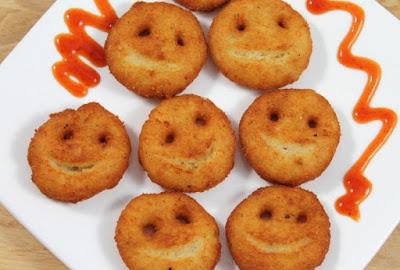 Simple Cheesy Potato Smiley Recipe