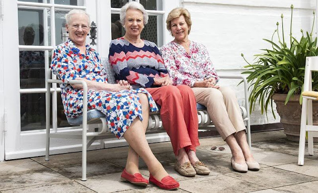 Queen Margrethe, Princess Benedikte and Queen Anne-Marie have spent a few days together at Graasten Castle