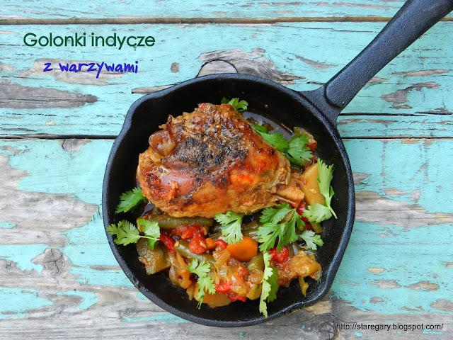 Golonki indycze z warzywami II z wolnowaru