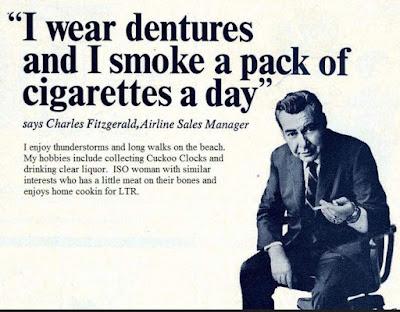I wear dentures and smoke