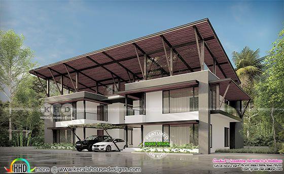 Minimalist Kerala home design